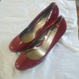 Jessica Simpson red high heels